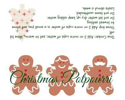 Christmas Potpourri.