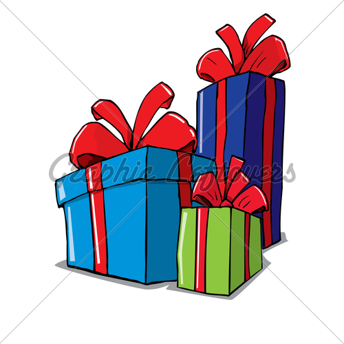 Cartoon Of Group Of Christmas Gifts · GL Stock Images.