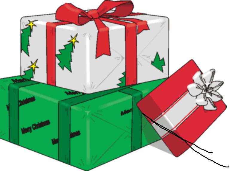 Christmas Gifts Cartoon clipart.