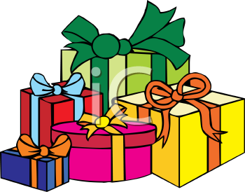 Christmas presents clip art free.