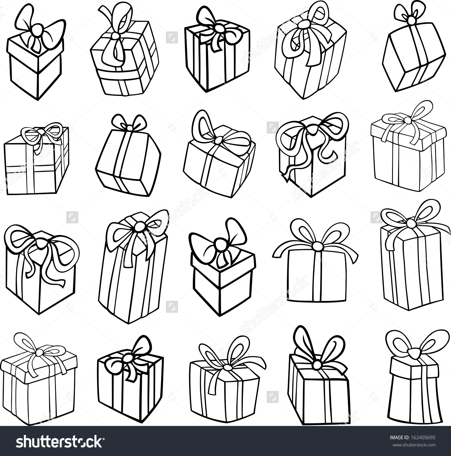 christmas presents clipart black and white - Clipground