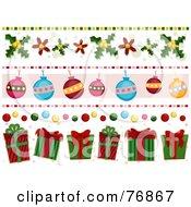 Christmas Present Border Clipart.