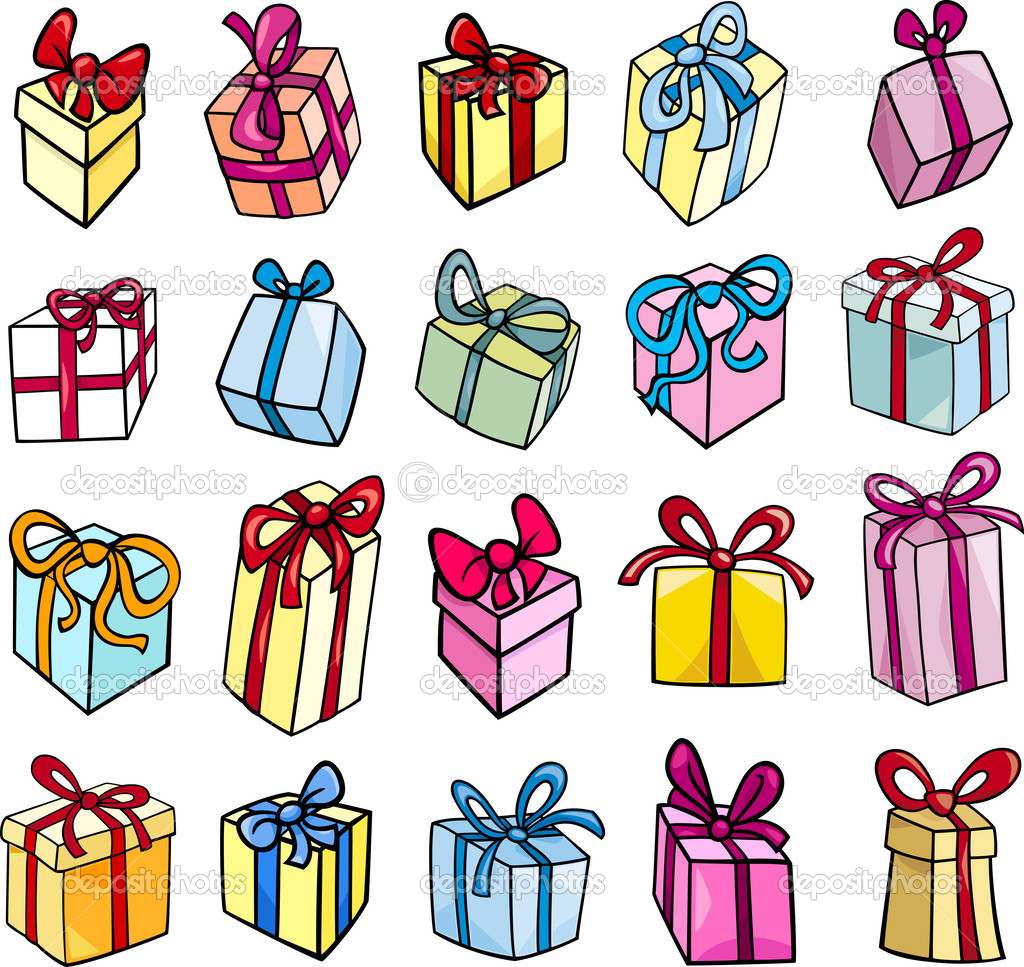 Christmas Presents Clipart Bord.