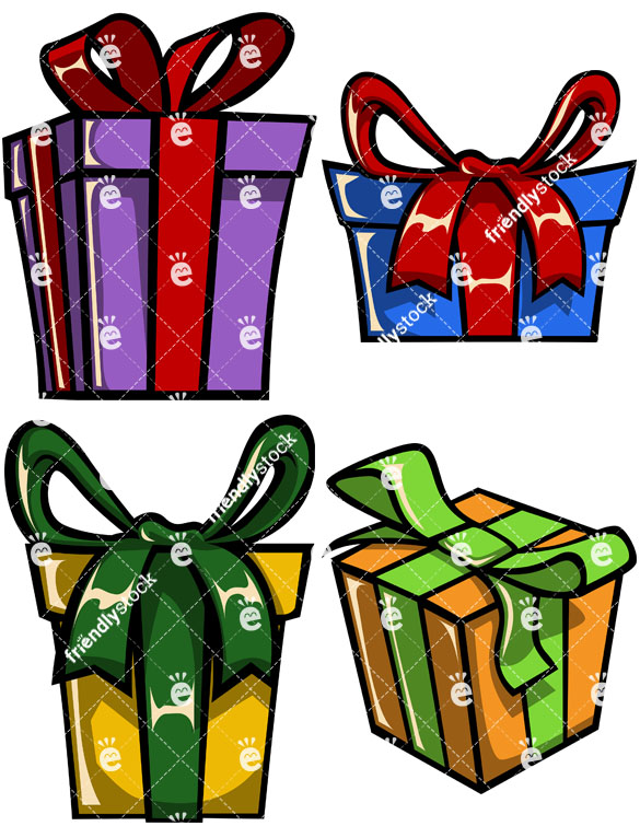 Wrapped Gift Boxes Collection.