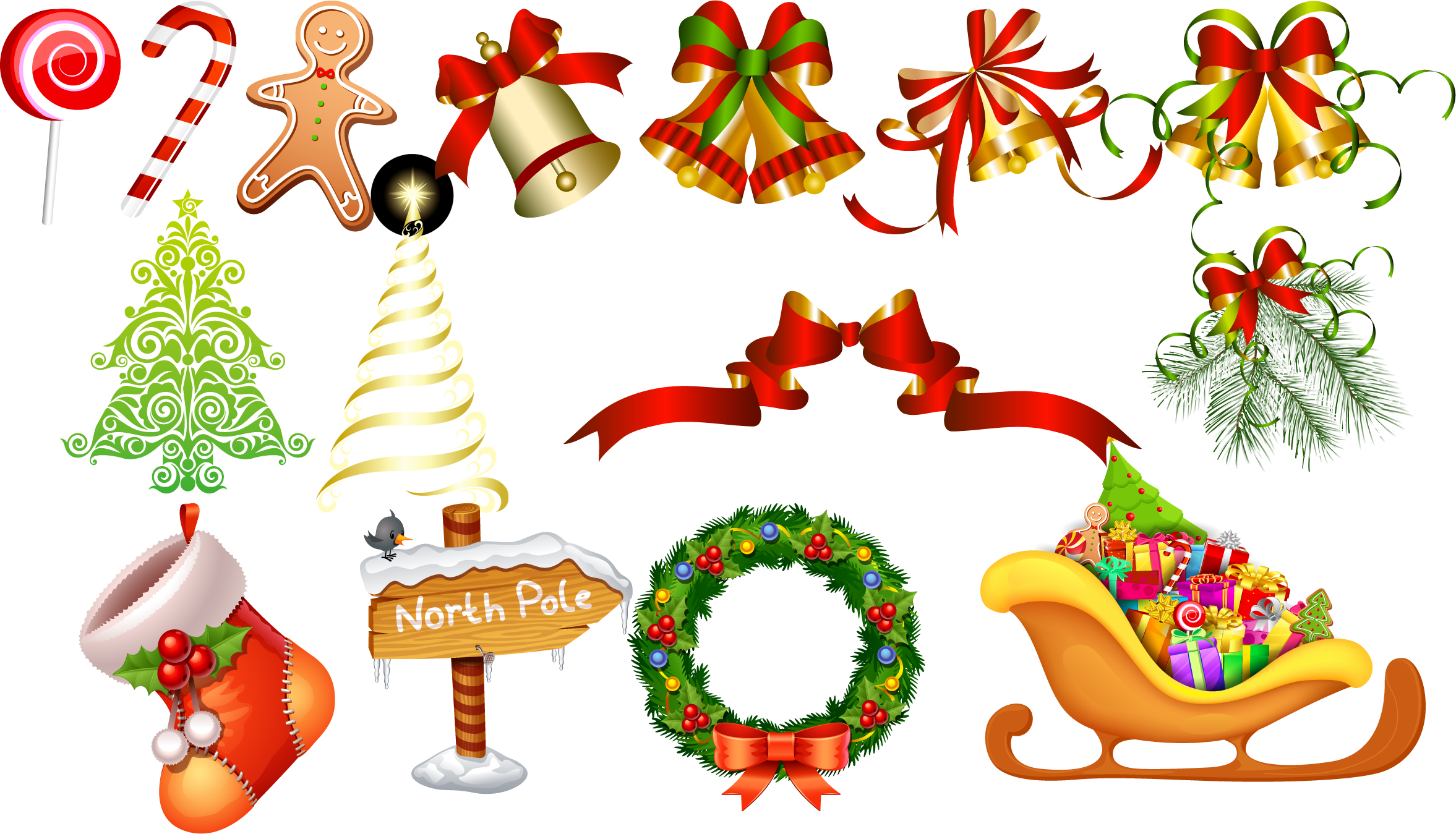 Christmas props png download.