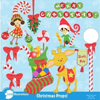 Christmas Props clipart, AMB.