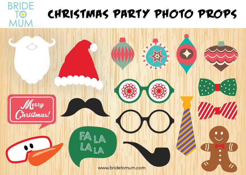 Christmas Photo Booth Props.