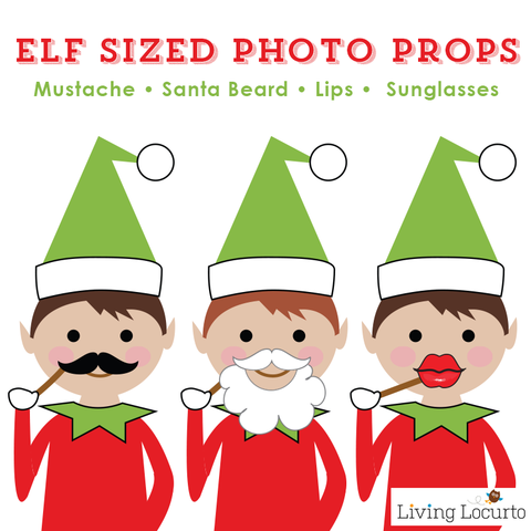 Christmas Elf Photo Booth Props.