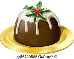 Christmas Pudding Clip Art.