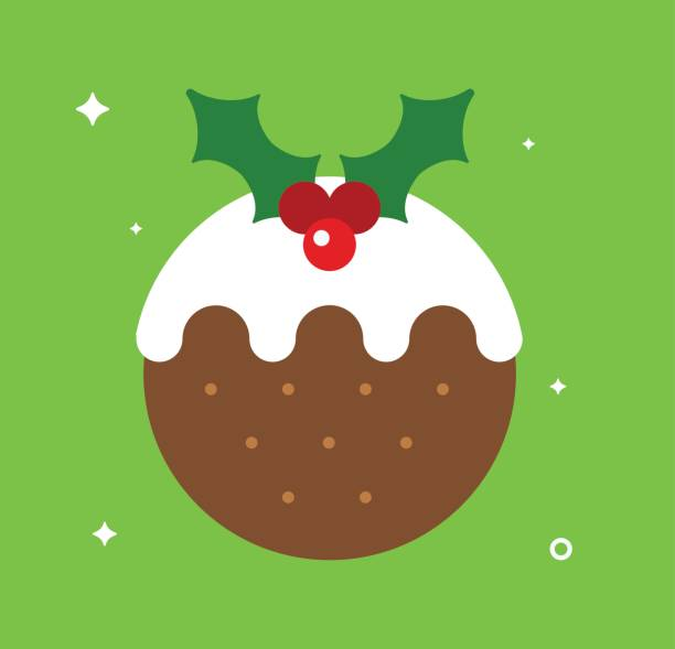 Best Christmas Pudding Illustrations, Royalty.