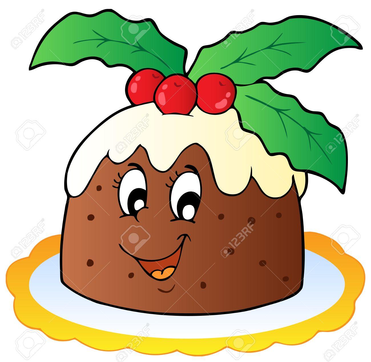 Cartoon Christmas pudding.