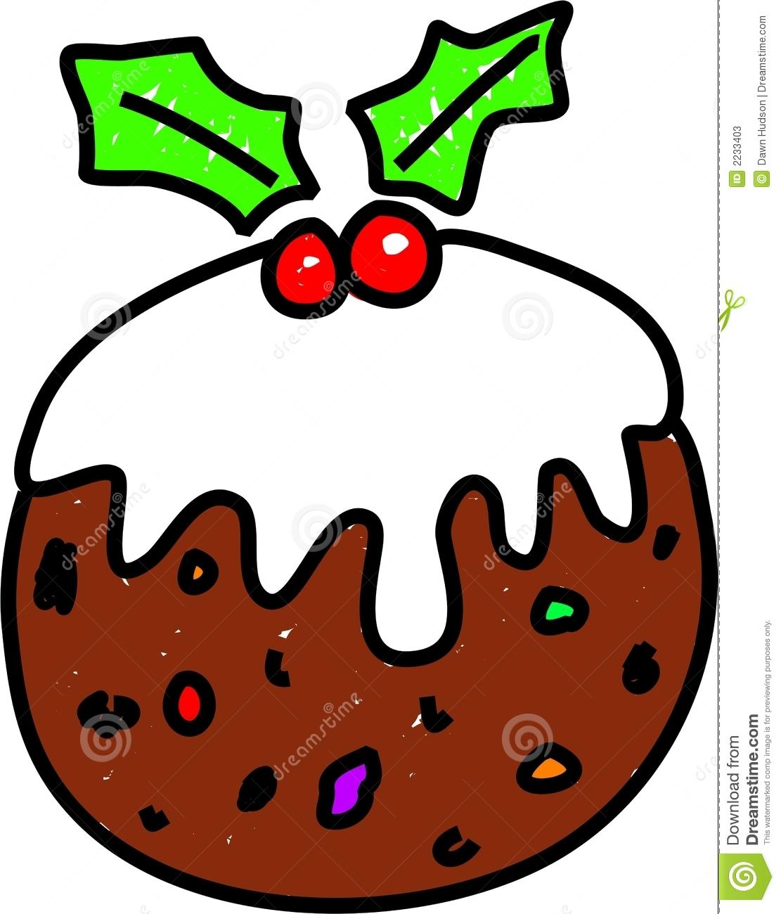 Christmas Pudding Clipart.