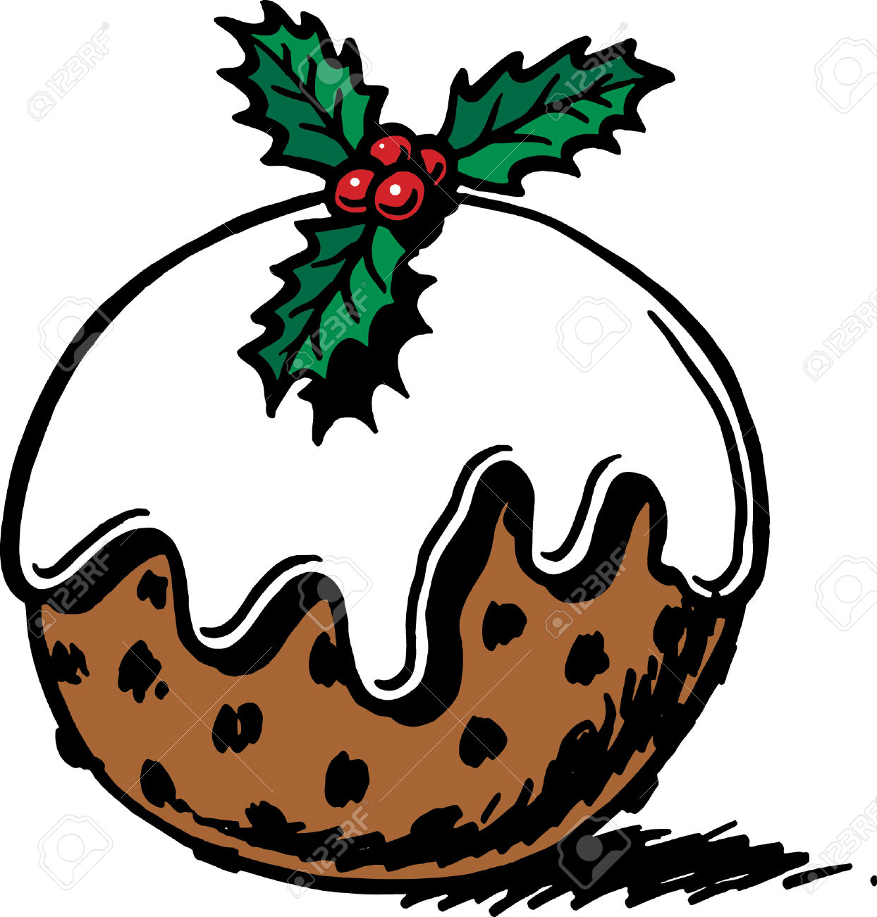 Christmas pudding clipart 1 » Clipart Station.