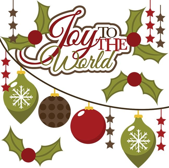 CHRISTMAS, JOY TO THE WORLD CLIP ART.
