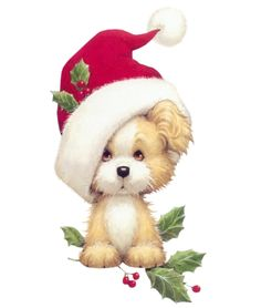 Free Christmas Puppy Cliparts, Download Free Clip Art, Free Clip Art.