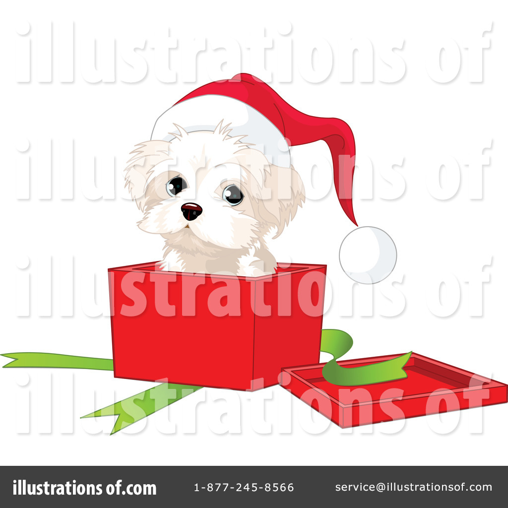 Christmas Puppy Clipart #73132.