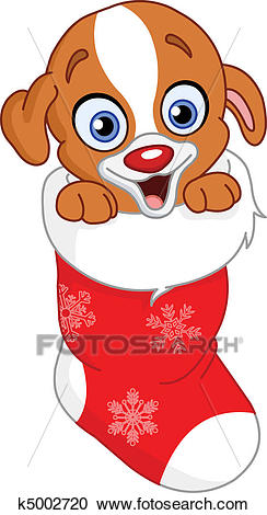 Christmas puppy Clipart.