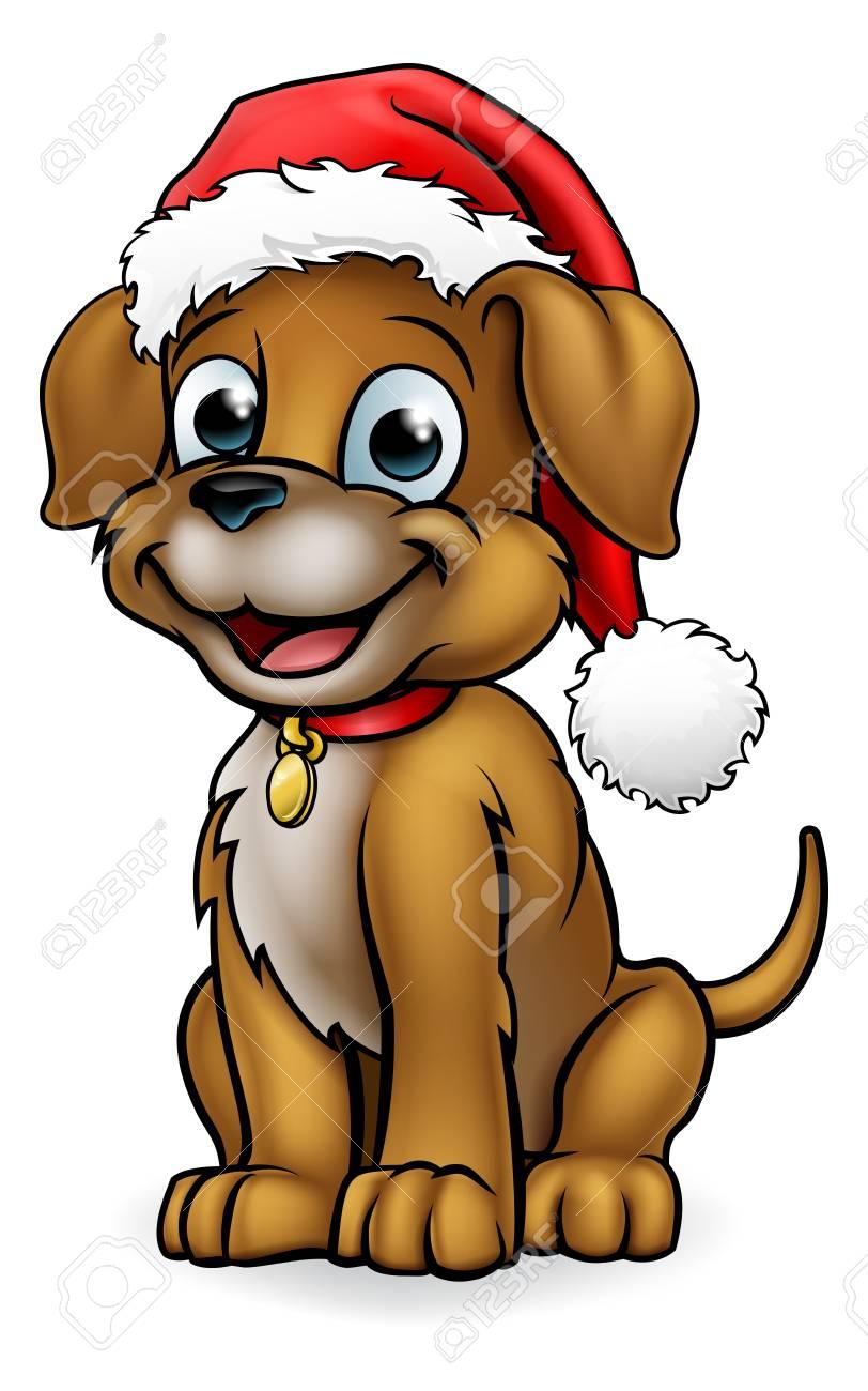 Santa Hat Christmas Dog.