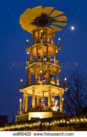 Stock Photo of Germany, BadenWürttemberg, Esslingen, Christmas.