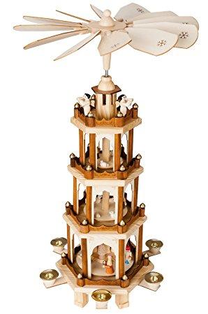 BRUBAKER Wooden Christmas Pyramid Four Levels 60 cm high Hand.