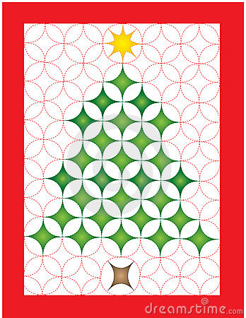 Christmas quilt clipart.