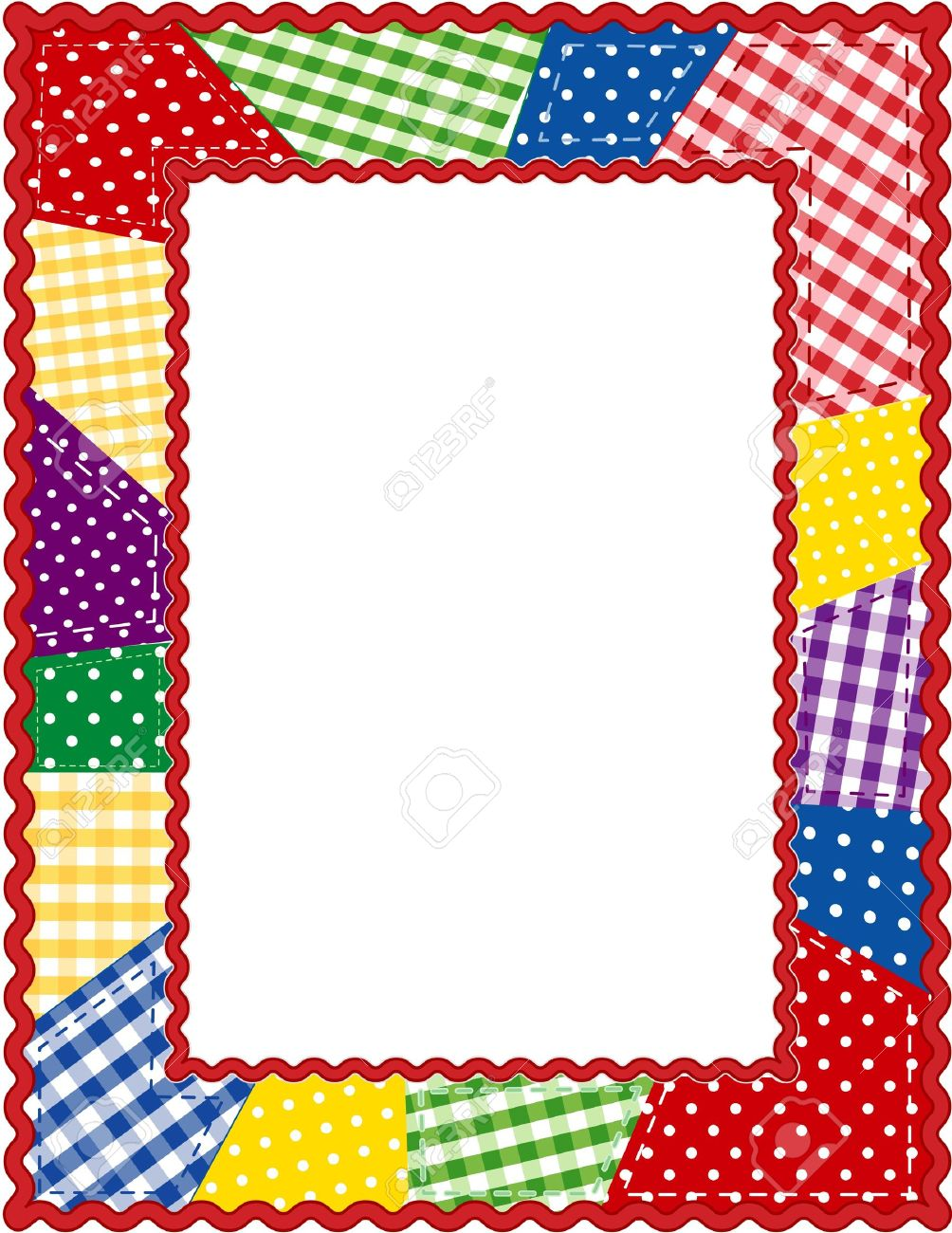 Christmas Quilts Borders Clipart.