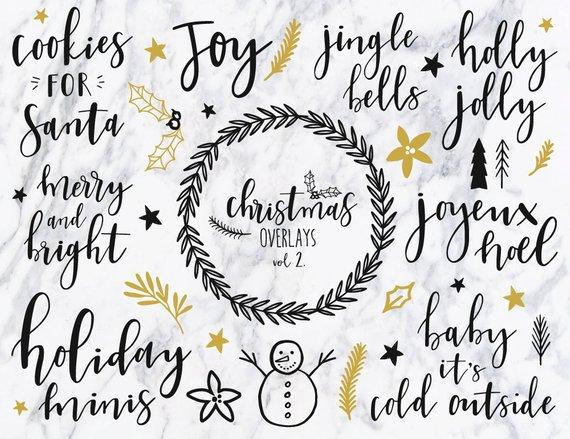 Christmas clipart/ vol 2 / Christmas quotes / Christmas clip art.