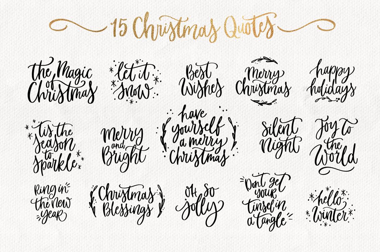 Merry Christmas SVG bundle quotes & clipart.