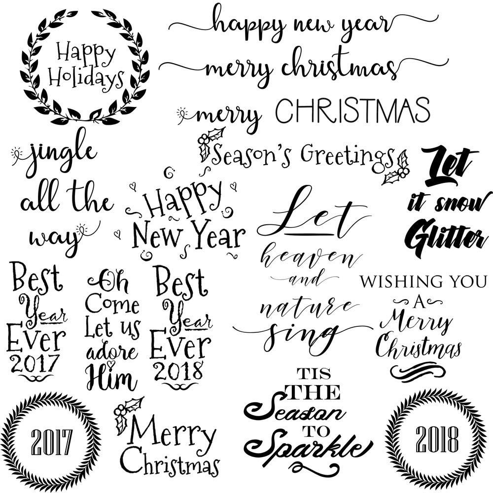Christmas Clipart:Photo Overlays, Christmas Digital Quotes, Holiday Clipart.