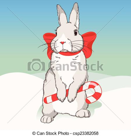 Christmas bunny Vectors, Vector Clipart & EPS images.
