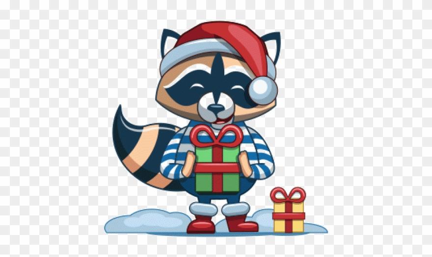 Racoon Clipart Christmas.