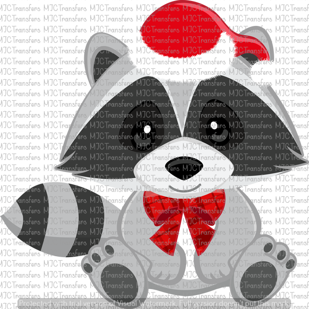 CHRISTMAS RACCOON (SUBLIMATION).