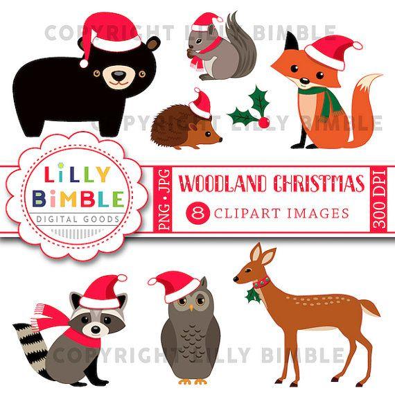 40% off Woodland Christmas animals, bear, raccoon, squirrel.