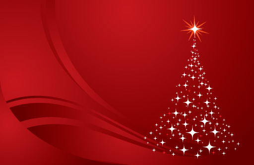 Christmas Tree Background Red clip arts, free clipart.