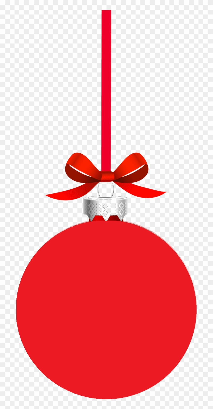 Red Christmas Ball Png , Png Download.