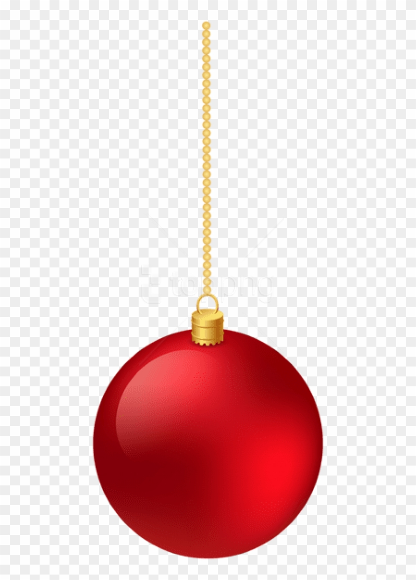 Christmas Classic Red Hanging Ball Png.