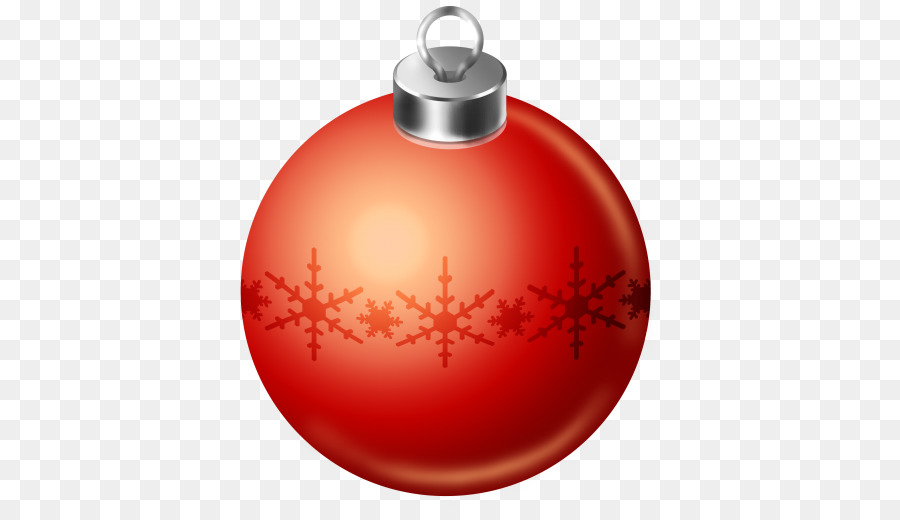 Red Christmas Ball png download.