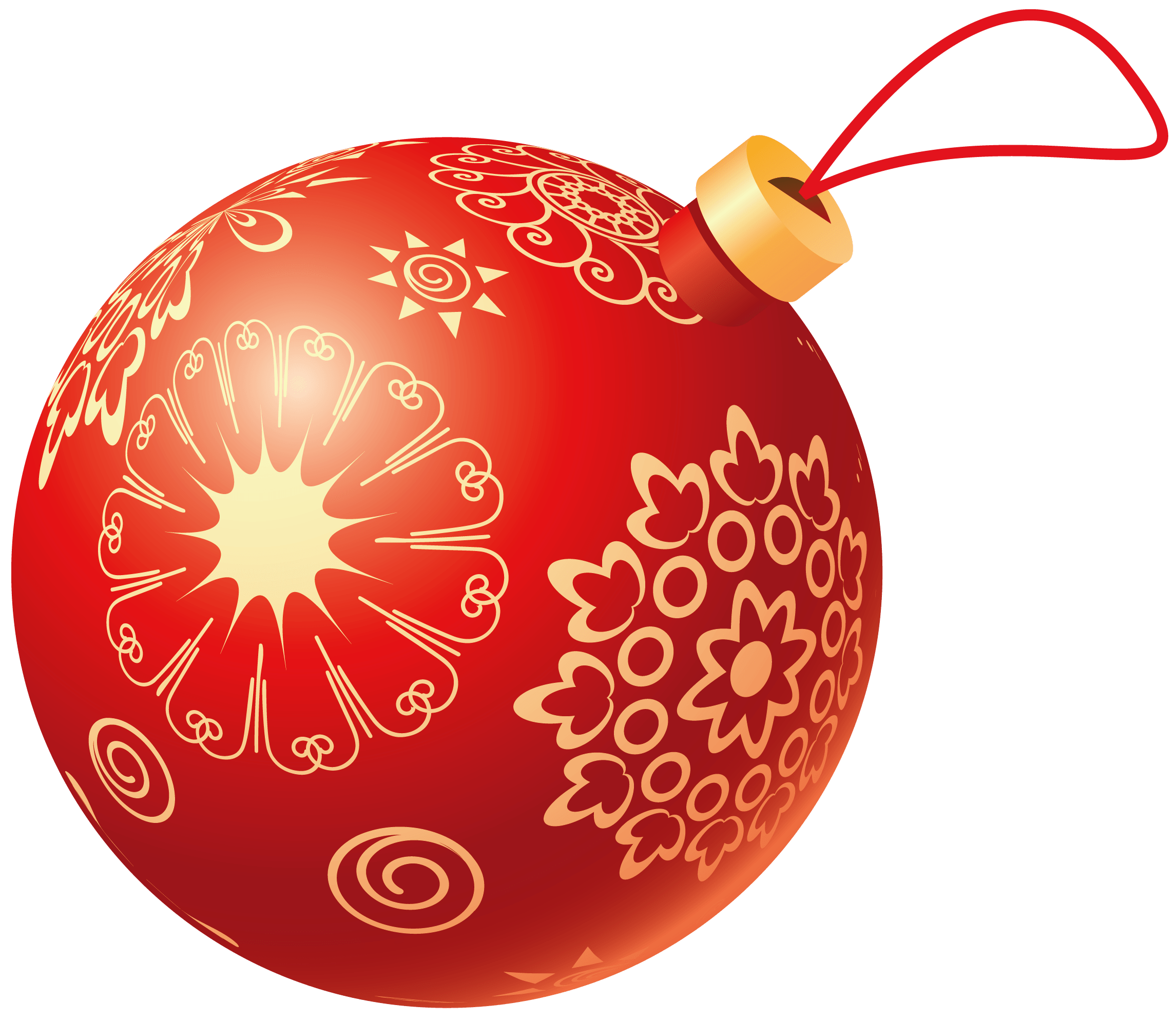 Christmas Red Ball transparent PNG.