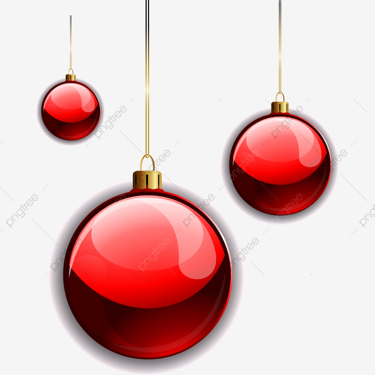 Creative Christmas Elements Red Ball Ai Material, Christmas Material.