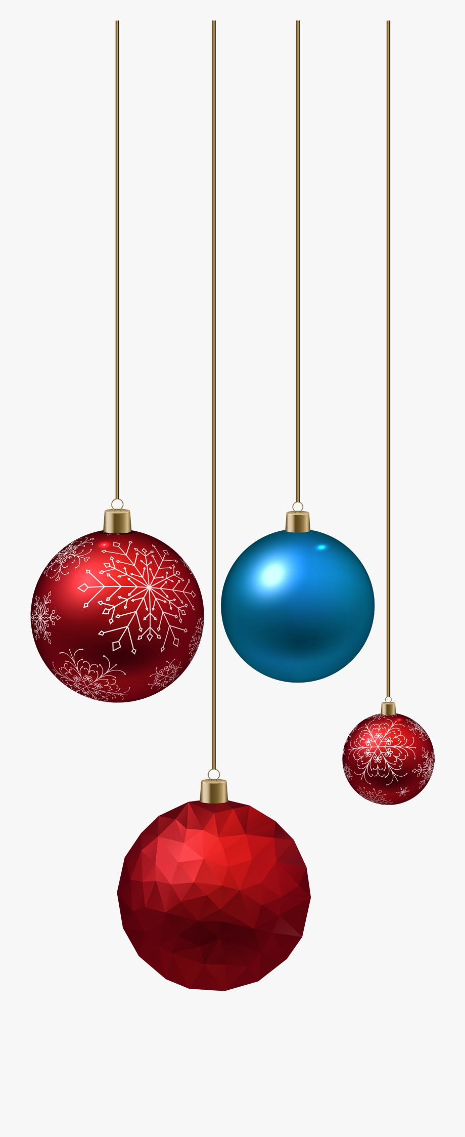 Boarder Red Christmas Ornaments Png.