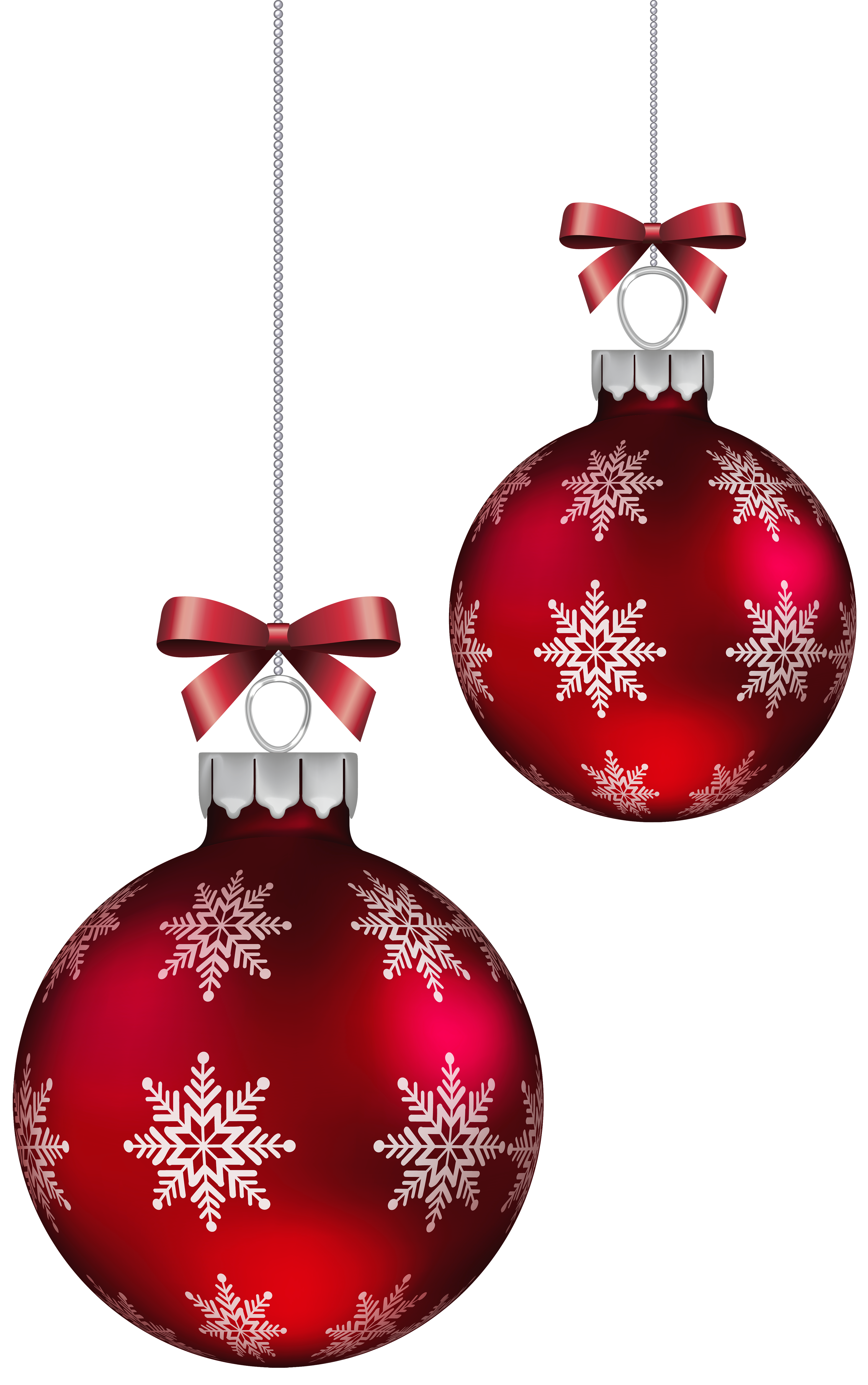Red Christmas Balls Decoration PNG Clipart Image.