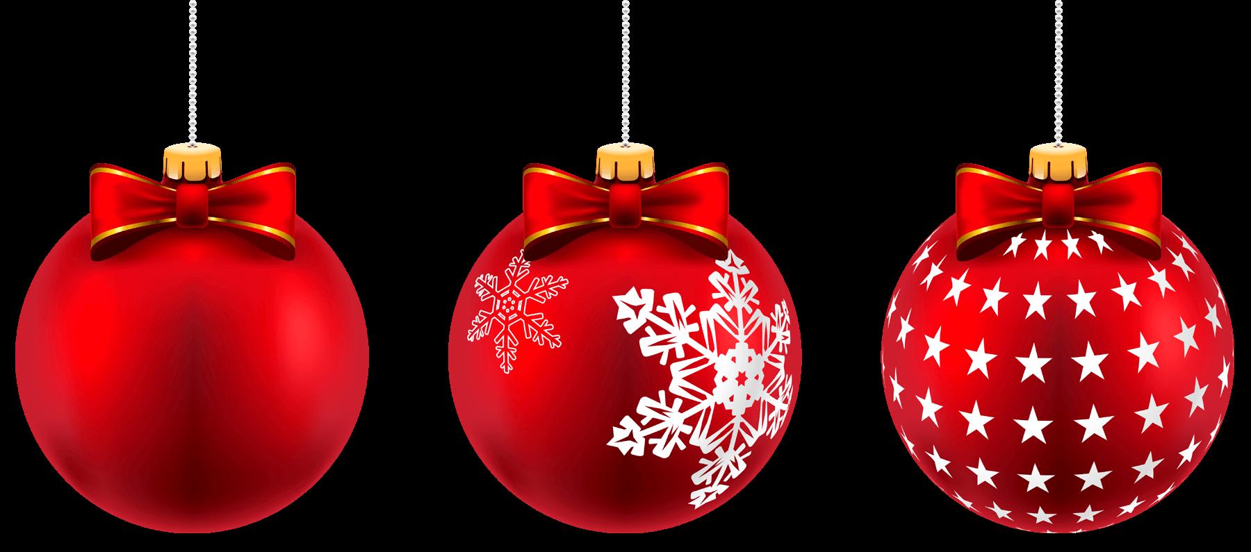 Red Christmas Balls PNG.