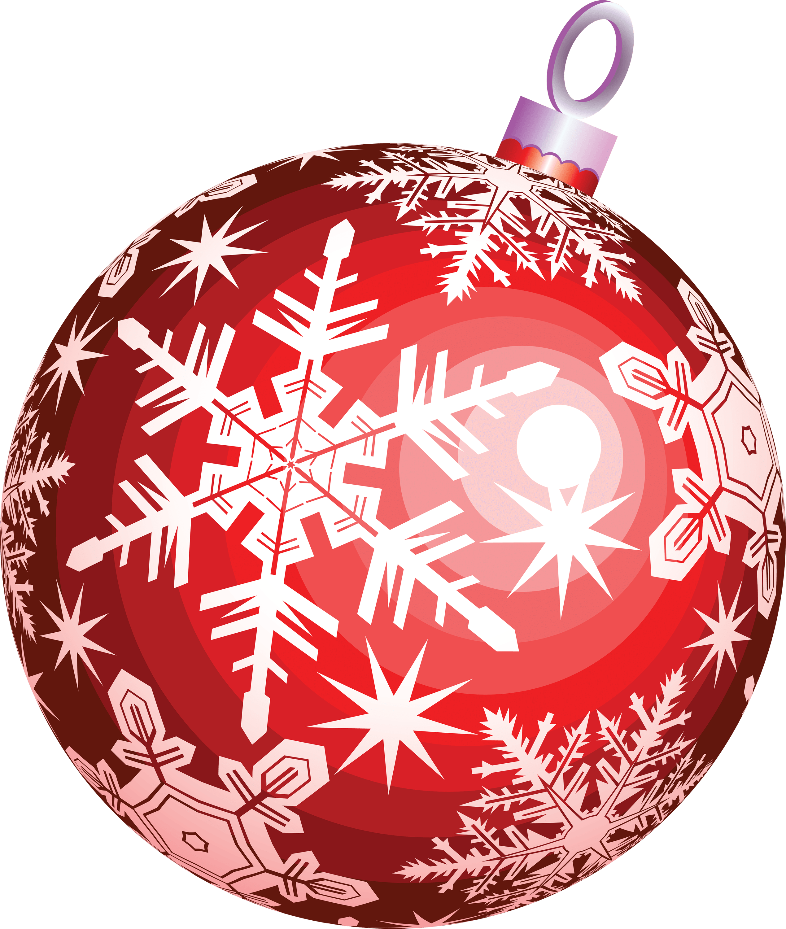 Red Ball Christmas transparent PNG.