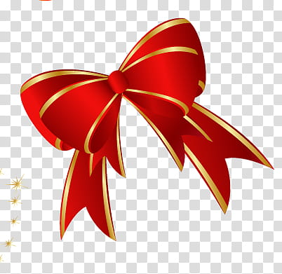 CHRISTMAS MEGA, red and gold bow illustration transparent.