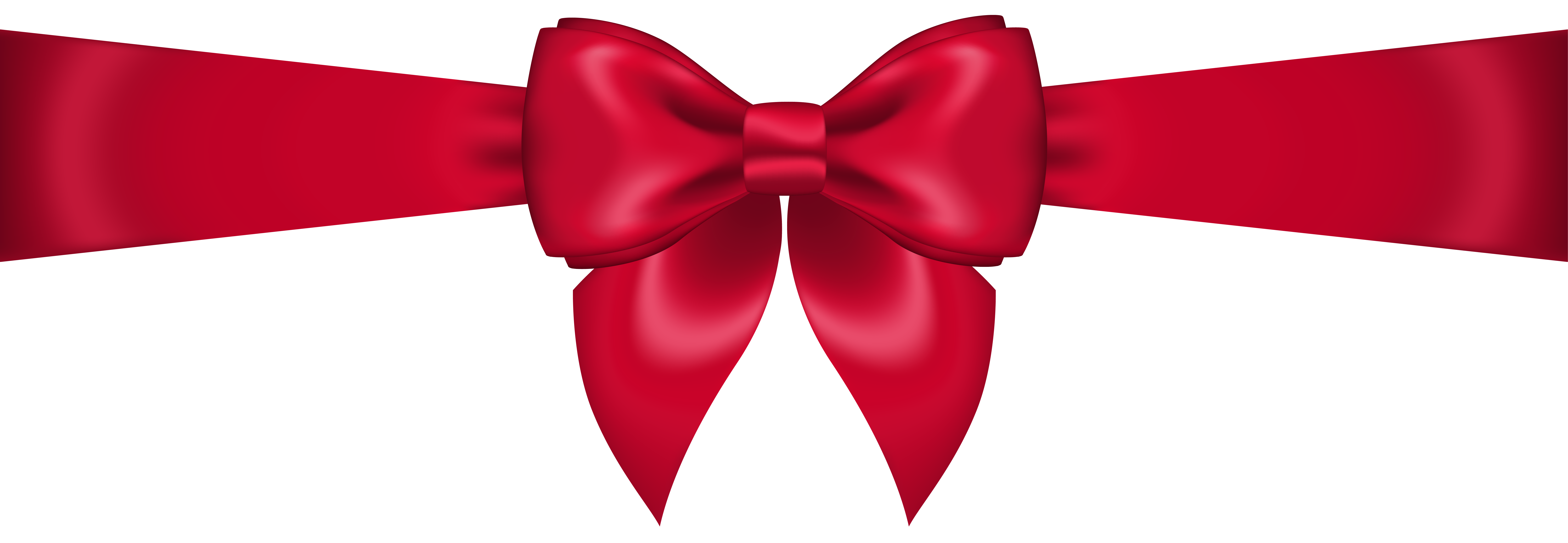 Red Bow Transparent PNG Clip Art Image.