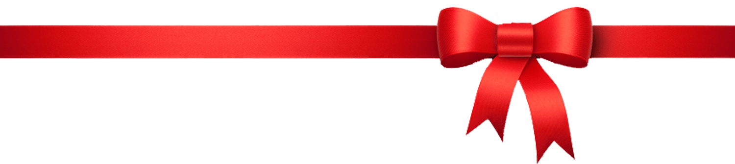 Red Christmas Ribbon Png Clip Art.