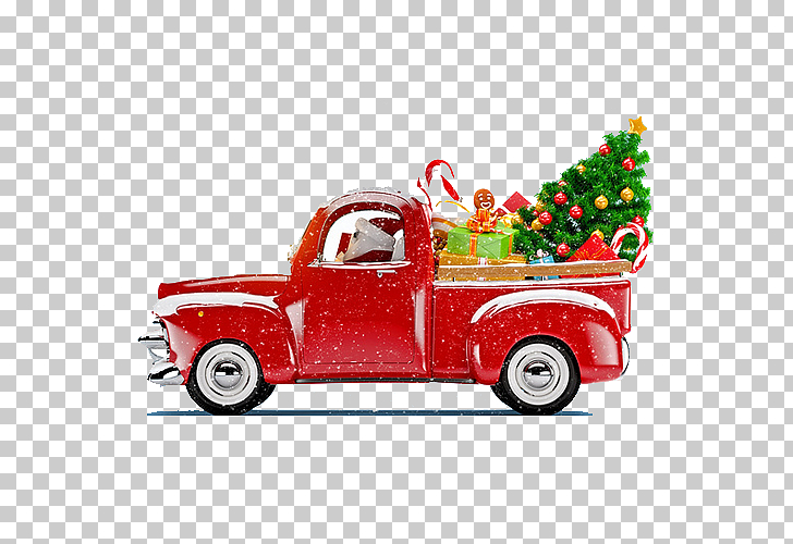 Santa Claus Christmas tree Christmas decoration Truck, Truck.