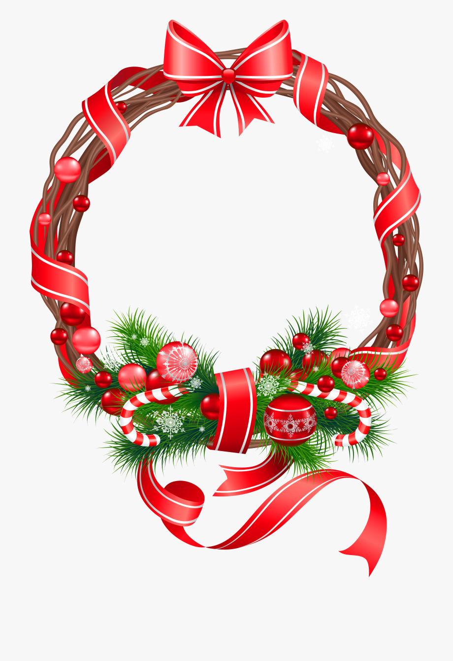 Christmas Png Wreath Ornament Clipart.