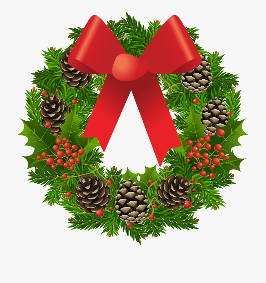 Vector Royalty Free Library Transparent Wreath Picture.