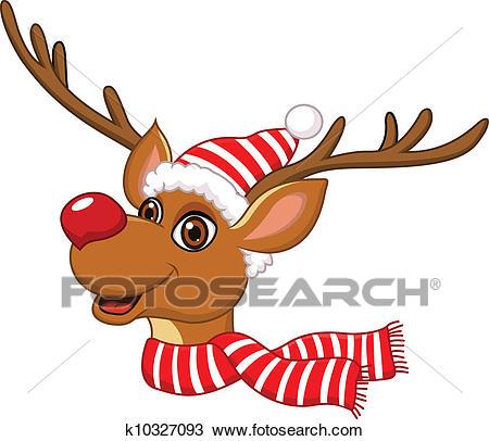 Cute Christmas Reindeer Clipart.